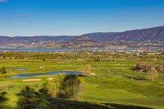 Columbia Britânica de Kelowna do vale de Okanagan do campo de golfe Fotos de Stock Royalty Free