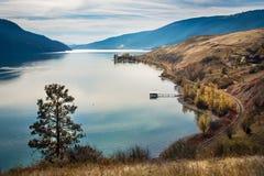 Columbia Britannica Canada di Kelowna del lago Okanagan Immagine Stock