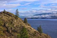 Columbia Britannica Canada di Kelowna del lago Okanagan Fotografie Stock