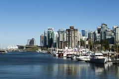 Columbia Britannica Canada di Vancouver di paesaggio urbano dell'orizzonte Immagine Stock