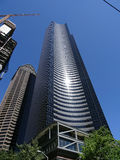 Columbia Center and building under construction royalty free stock photos