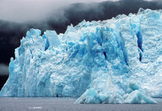The Columbia Glacier in the fog Stock Photos