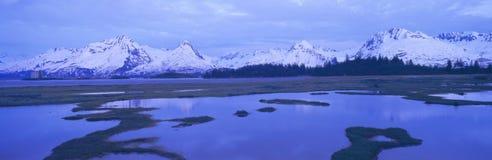 Columbia Glacier near TransAlaska Pipeline, Valdez, Alaska Stock Photography