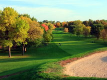 Columbia golf course in Minneapolis. Public golf course in the City of Minneapolis fall season Royalty Free Stock Photo