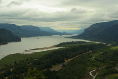 Columbia Gorge. Columbia River Gorge, Oregon-Washington border Royalty Free Stock Photo