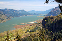 Columbia Gorge With Vista House Royalty Free Stock Images