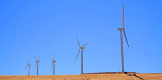Columbia Gorge - Wind Generators - Panorama Royalty Free Stock Photos