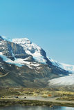 Columbia Icefield 2, Alberta, Canada. A view of the Columbia Icefield. The icefield is a glacier that is safe for tourist to walk on. The view shows the access Royalty Free Stock Photo