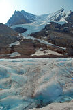 Columbia Icefield 3, Alberta, Canada. A view of the Columbia Icefield. The icefield is a glacier that is safe for tourists to walk on. The view shows the access Stock Photo