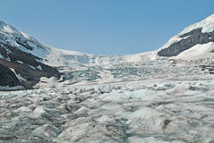 Columbia Icefield 4, Alberta, Canada. A view of the Columbia Icefield. The icefield is a glacier that is safe for tourists to walk on Stock Photography