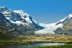 Columbia Icefield, Alberta, Canada. A view of the Columbia Icefield. The icefield is a glacier that is safe for tourist to walk on Stock Photography