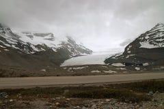 Columbia Icefield, Alberta, Kanada. Arkivfoton