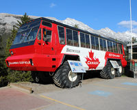 Columbia Icefield bus, Banff, Alberta, Canada Stock Photos