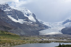 Columbia Icefield in Jasper National Park Stock Image