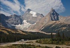 columbia icefield jaspisu park narodowy Zdjęcia Royalty Free