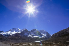 Columbia Icefield, Rocky Mountains, Alberta, Kanada Royaltyfri Fotografi