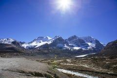Columbia Icefield, Rocky Mountains, Alberta, Kanada Arkivfoton