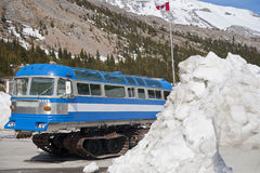 Columbia icefield, snow-coach Stock Photography