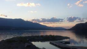 columbia lake Arkivfoton