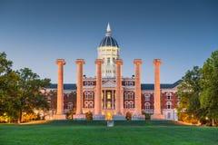 Columbia Missouri, USA historisk universitetsområde arkivbild