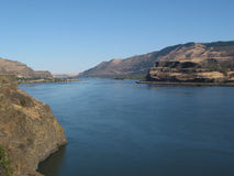 Columbia River. The Columbia River looks deep blue on a sunny day stock image