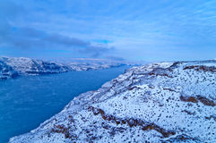 Columbia River. Spectacular shot of Columbia River in Vantage Washington - Winter stock photo