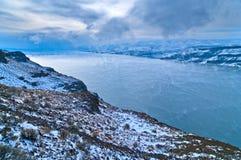 Columbia River. Spectacular shot of Columbia River in Vantage Washington - Winter stock photos