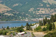 Columbia river. Scenics of columbia river from mt hood in oregon royalty free stock image