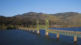 Columbia River Antenne stock footage