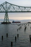 Columbia River, Astoria, Oregon. Astoria–Megler Bridge over the Columbia at Astoria, Oregon stock images