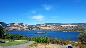 Columbia river. A beautiful shot of the Columbia River gorge royalty free stock photography