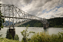 Columbia river and bridge of gods Royalty Free Stock Photo