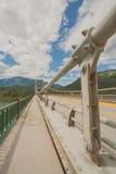 On Columbia River Bridge Stock Photo