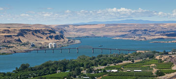 Columbia River Bridge Stock Image