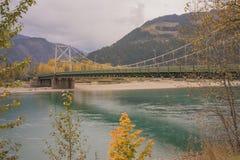 Columbia River bro, Revelstoke, British Columbia Arkivbilder