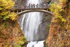Columbia River för Multnomah nedgångvattenfall klyfta, Oregon Royaltyfri Fotografi
