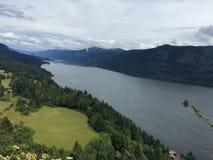 Columbia River från den Vancouver sidan Royaltyfri Bild