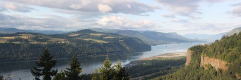Columbia River Gorge. The Columbia river gorge and the vista house Oregon Stock Photography