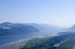 Columbia River Gorge on a Hazy Day Stock Photography