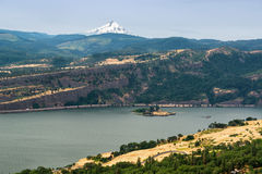 Columbia River Gorge and Mt Hood Royalty Free Stock Photography