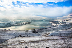 Columbia river gorge National scenic area overlook in winter Stock Photo