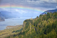 Columbia River Gorge Oregon state. Stock Photos