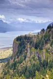 Columbia River Gorge Oregon state. Crown point and the Columbia River Gorge Oregon state stock image