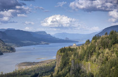 Columbia River Gorge Oregon state. Crown point and the Columbia River Gorge Oregon state stock photography