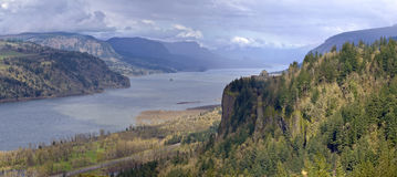 Columbia River Gorge Oregon state panorama. Stock Image