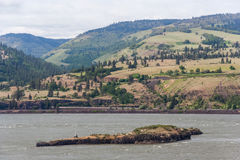 Columbia River Gorge Pacific Northwest between Oregon and Washington stock photos