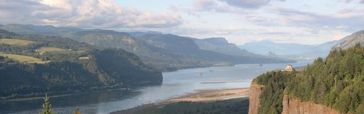 Columbia River Gorge panorama. Columbia Gorge Oregon a scenic area where Oregon and Washington State meet Stock Images
