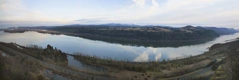 Columbia River Gorge Panorama Stock Photo