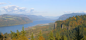 Columbia River Gorge panorama Oregon. Royalty Free Stock Image
