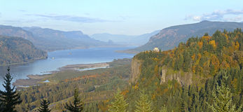 Columbia River Gorge panorama Oregon. Stock Photo